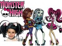 Lienzo para fotos de Monster High.