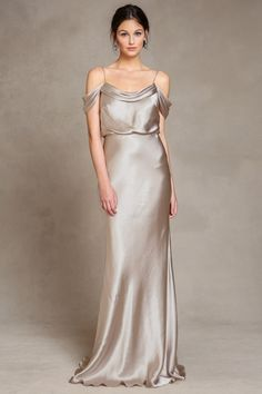 Brushed Gold // Jenny Yoo Sabine dress in latte (metallics)