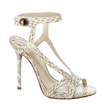 ELLIOT - STRAPPY SNAKESKIN SANDALS