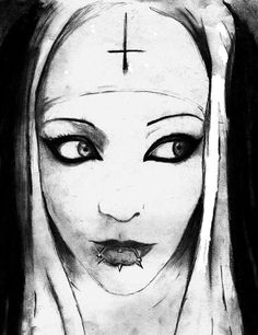 Nun Drawing | Nun From None Drawing