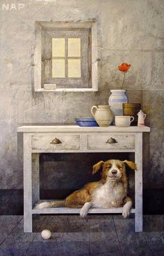 L'Assommoir Happy Dog by Manuel Lopez Herrera