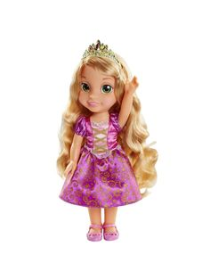 Buy Disney Toddler My First Princess Toddler Rapunzel from our Dolls, Doll Houses & Doll Prams range at John Lewis & Partners. Disney Princess Toddler Dolls, Disney Baby Dolls, Princess Rapunzel, Princess Disney, Disney Animator Doll, Dolls Prams, Beautiful Long Hair, Down Hairstyles, One Color
