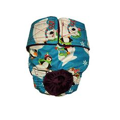 Dog Diapers  Made in USA  Christmas Penguin and Polar Bear Washable Dog Diaper L for Incontinence Housetraining and Dogs in Heat *** Click image to review more details.
