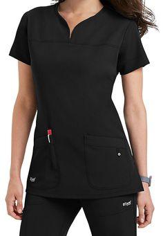 Greys Anatomy Signature 2 Pocket Top. Main Image