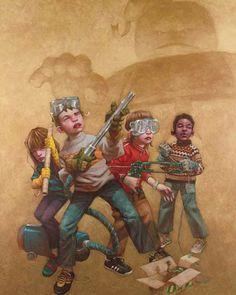L'Enfance et ses héros – 23 peintures de Craig Davison !