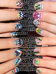Nail Art 2012: Abstract Print