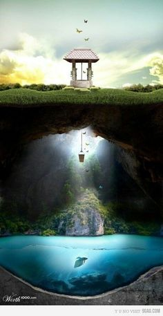 Photo Manipulation Art | Wishing well | Digital Art/Photo Manipulation 3. LauraEAbbott | Community Post: 12 Artists Who's Sculptures You Will Fall In Love With