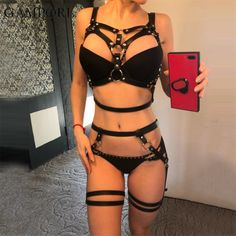 Leather Lingerie, Sexy Lingerie, Leather Underwear, Bridal Bra, Leather Harness, Leg Harness, Leather Halter, Stockings Lingerie, Bra Straps