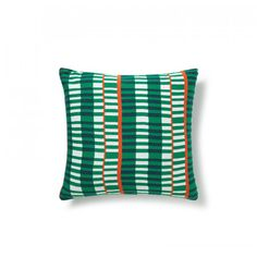 Ladder Knitted Cushion - Green