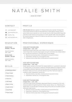 Word Resume & Cover Letter Template - Resumes