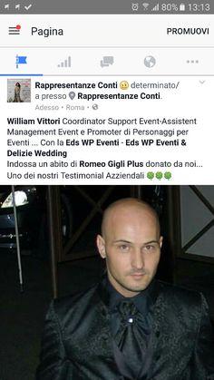 Grazie mille per me è un onore e un piacere collaborare con voi ❤❤❤Rappresentanze Conti di Conti Salvatore e Sophia Conti 💐💐💐 #modauomo #eleganza #stile #eventi  #coordinator #support #event #roma