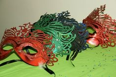 Carnival masks for Rio themed party!