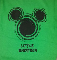 Little Brother MIckey Disney Family by DisneyFreakBoutique on Etsy