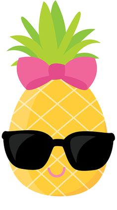 """Photo from album """"ZWD_Pineapple_clipart"""" on Yandex. Flamingo Party, Flamingo Birthday, Fruit Party, Luau Party, Pineapple Clipart, Hawaian Party, Hawaiian Birthday, Tropical Party, Cute Wallpapers"""
