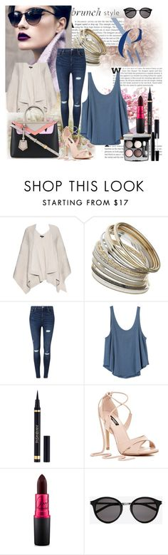 """Brunch with friends"" by mila96h ❤ liked on Polyvore featuring rag & bone, Miss Selfridge, RVCA, Yves Saint Laurent, Chanel, MAC Cosmetics and brunch"
