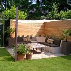 Back Garden Design, Small Backyard Design, Small Backyard Landscaping, Backyard Patio, Modern Garden Design, Back Gardens, Outdoor Gardens, Garden Sitting Areas, Garden Inspiration