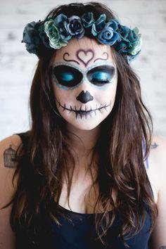 Tutorial Make  Sugar Skull (Caveira Mexicana) - Blog da Kipling Br Melina Souza - Serendipity By Ariadne Cetrella - TudoMake