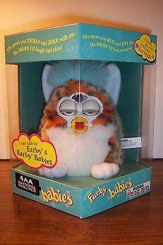"""Wavy Stripes Blue Leopard"" Furby Baby Generation 3 Vintage Original 2000 | eBay"