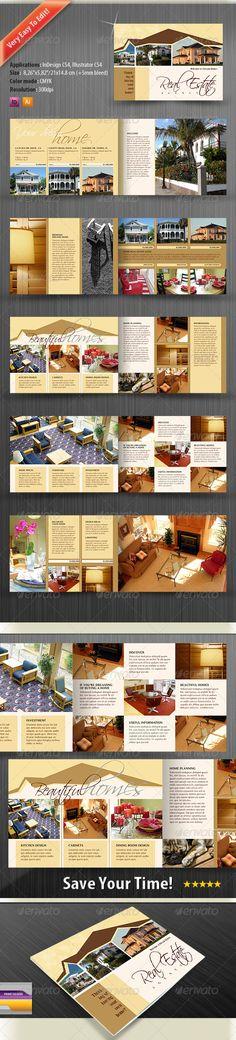 Real Estate Catalog Design Template / Brochure - Catalogs Brochures Template Vector EPS, AI Illustrator, InDesign INDD. Download here: https://graphicriver.net/item/real-estate-catalog-brochure/676345?s_rank=710&ref=yinkira