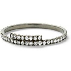 Monique Péan - White diamond stacking band with white diamond step
