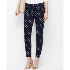 Ann Taylor Modern Floral Skinny Ankle Jeans ($50) ❤ liked on Polyvore featuring jeans, dark sky, dark jeans, ann taylor skinny jeans, floral skinny jeans, floral jeans and floral print jeans