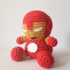 DIY IRONMAN SuperHero Amigurumi Crochet PDF Easy by Amigurumeria, $4.80
