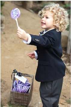 The Candy Man: An alternative to serving as a ring bearer or flower girl, assign a tot the all-important job of distributing candy favors. Photo by Amy and Stuart photography via Style Me Pretty Event Planning Design, Wedding Planning, Our Wedding, Dream Wedding, Wedding Ceremony, Wedding Angels, Spring Wedding, Perfect Wedding, Wedding Entertainment