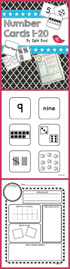 This set of number cards and activities has been the most valuable supplement to my math program for two years now. I hope it is a great help in your classroom too! Black and white ink friendly pages. Print, prep, and go! $