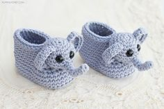 Ellie The Elephant Baby Booties - Free Crochet Pattern