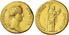 NumisBids: Nomisma Spa Auction 50, Lot 23 : ROMA IMPERO Antonia (madre di Claudio) Aureo – Testa con corona di...