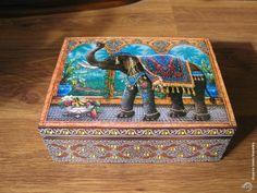 "Декупаж - Сайт любителей декупажа - DCPG.RU | Чайная шкатулка ""Индийский слон"". Click on photo to see more! Нажмите на фото чтобы увидеть больше! decoupage art craft handmade home decor DIY do it yourself box Materials: print varnish"