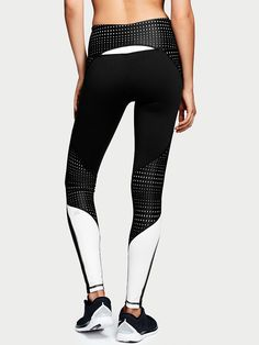 Knockout by Victorias Secret Tight in White/Black Optic Dot $69.50