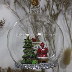 pote de vidro com decoração natalina - Pesquisa Google
