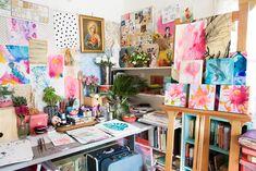 Paula Mills' studio~Photo by Sallyanne Hartnell.