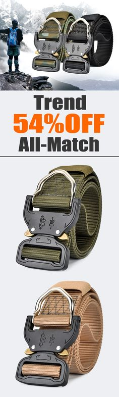 54%OFF&Free shipping. Mens Nylon Military Combat Belt, Heavy Duty Plate Buckle Outdoor Sports Pants Strip. Colors: Khaki, Black, Coffee, Grey, Blue, Green, Yellow. Shop now~
