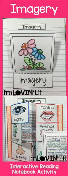 Imagery Foldable, Imagery Interactive Notebook Activity by Lovin' Lit from the ALL NEW Interactive Reading Literature Notebooks, Part 2