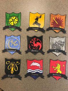 Game of Thrones Door Decs all of the House Crests