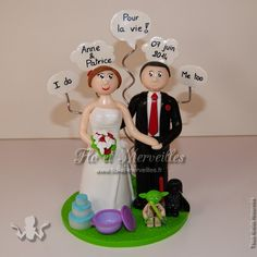 Wedding cake topper / figurines mariage personnalisées - thème BD