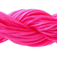 Lot 5m cordon nylon spécial shamballa rose fluo 1mm