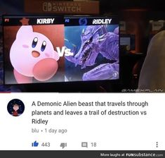 Kirby Memes 822399581935730302 - Who would win Source by ayzlea Video Game Memes, Video Games Funny, Funny Games, Super Smash Bros Memes, Nintendo Super Smash Bros, Nintendo Ds, Stupid Funny Memes, Haha Funny, Funny Stuff