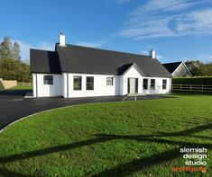 Award-Winning architects, based in Ballymena, working in Northern Ireland, Ireland, & the rest of the UK. Specialising in contemporary & traditional architecture. Bungalow Conversion, Design Studio, House Design, Bungalow Exterior, Roof Extension, Irish Cottage, House With Porch, Modern Traditional, New Builds