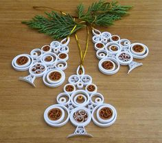 Christmas tree ornament White Christmas tree Christmas