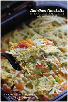 Rainbow Omelette using Happy Call Pan @Ellena | Cuisine Paradise
