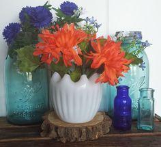 Vintage Fenton Milk Glass Vase Milk Glass Vase by VintageMason