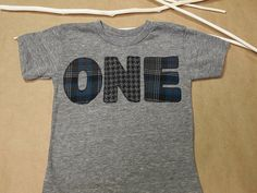 New lil threadz design posted! Plaid and Houndstooth Shirt Birthday Tee Organic Shirt Blend Grey and Blue Flannel Print by lilthreadzclothing