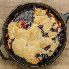 Peach Blueberry Cobb