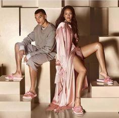 Puma Fenty by Rihanna Leadcat Fur Slide Slipper Sandal Shell Pink us8/eur39