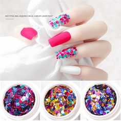 Colorful Nail Art, Diy Manicure, Glitter Nail Art, Nail Decorations, 3d Nails, Diy Accessories, Beauty Essentials, Uv Gel, Beauty Care