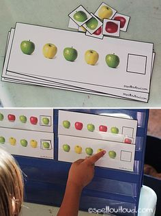 10 Apples Up on Top - Combine math and literacy for a pre-school or kindergarten apple unit.