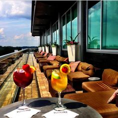 The Level 8 Lounge offers a great view of Tallahassee.